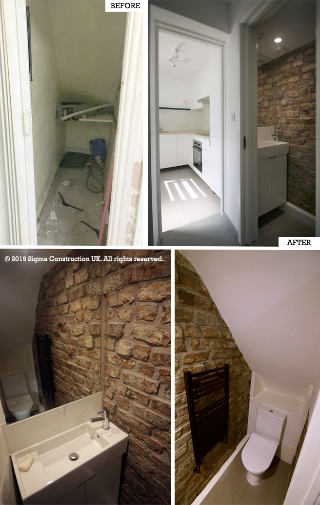 Lighting Basement Washroom Stairs: Understairs Toilet/WC